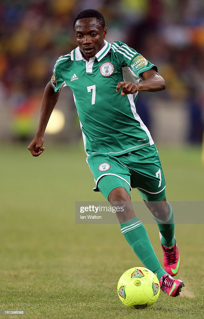Ahmed Musaab of Nigeria during the 2013 Africa Cup of Nations Final match between Nigeria and Burkina at FNB Stadium on February 10, 2013 in Johannesburg, South Africa.