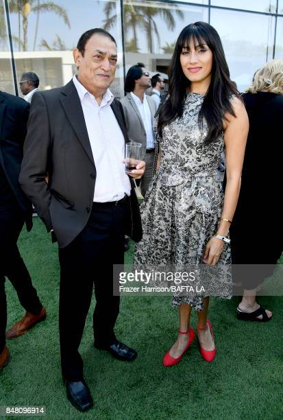 Ahmed Sunny and Tehmina Sunny attend the BBC America BAFTA Los Angeles TV Tea Party 2017 at The Beverly Hilton Hotel on September 16 2017 in Beverly...
