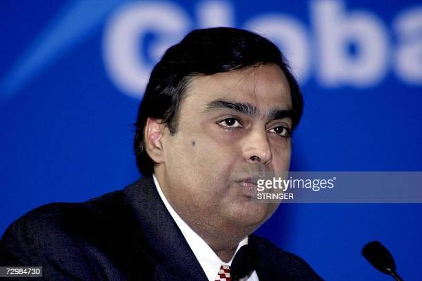 MrMukesh Ambani Chairman MD Reliance Industries Ltd speaks at the Vibrant Gujarat Global Investment Summit 2007 in Ahmedabad 12 January 2007 Ambani...