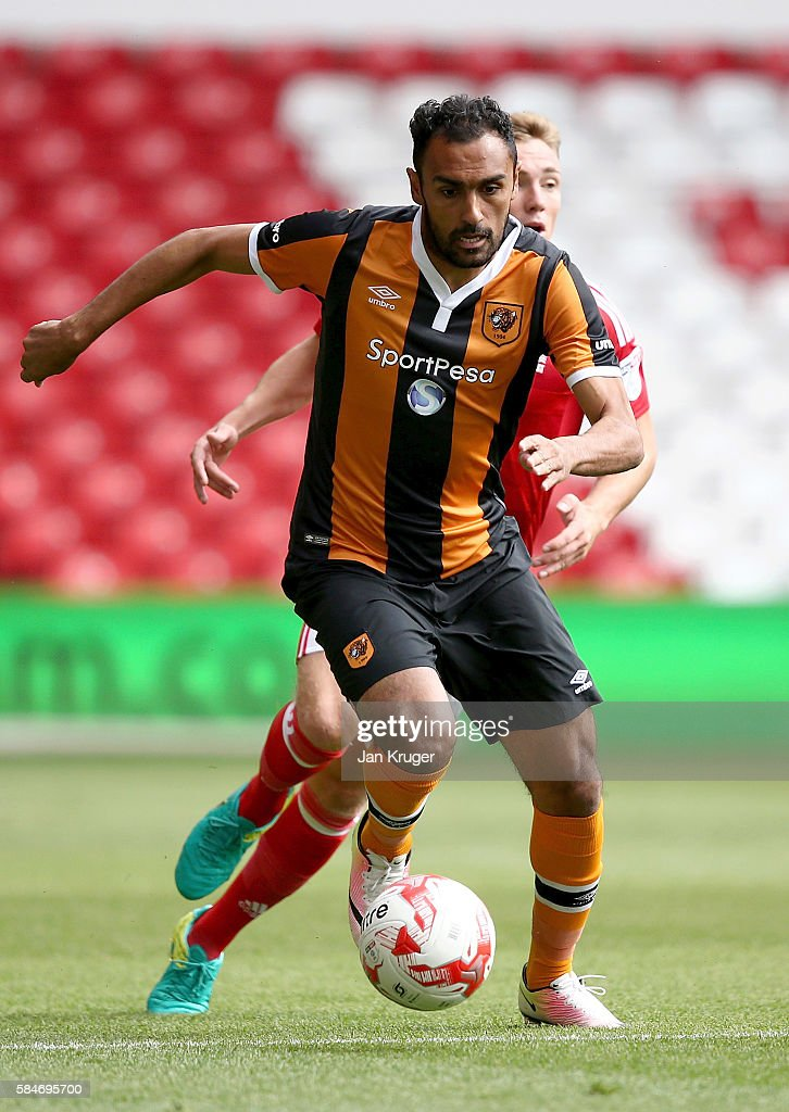 Ahmen Elmohamad of Hull City during the pre-season friendly match between Nottingham Forest and Hull City at City Ground on July 30, 2016 in Nottingham, England.
