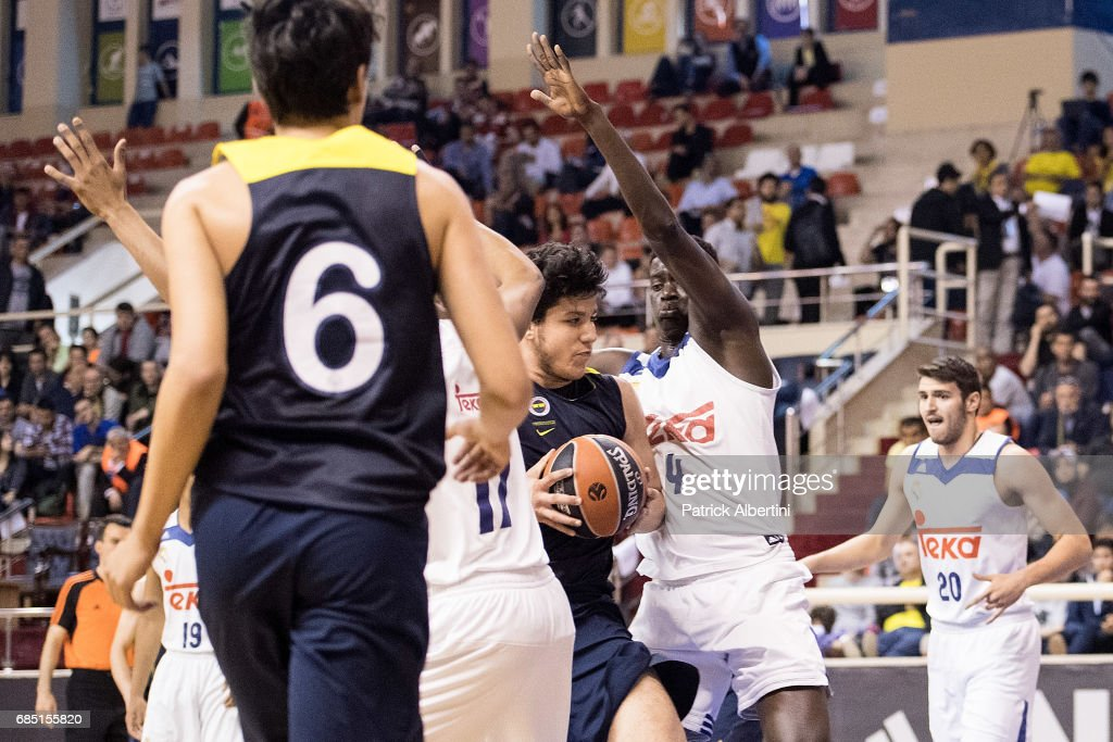 Ahmet Can Duran, #14 of U18 Fenerbahce Istanbul in action during the Euroleague Basketball Adidas Next Generation Tournament game between U18 Real Madrid v U18 Fenerbahce Istanbul at Ahmet Comert on May 19, 2017 in Istanbul, Turkey.