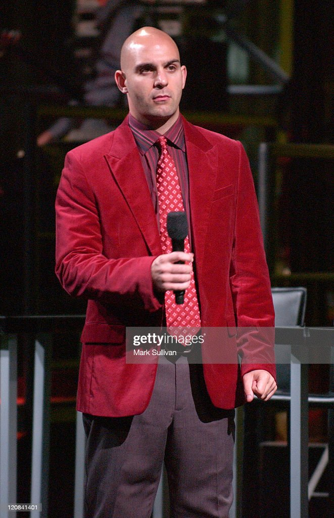 <a gi-track='captionPersonalityLinkClicked' href=/galleries/search?phrase=Ahmet+Zappa&family=editorial&specificpeople=804111 ng-click='$event.stopPropagation()'>Ahmet Zappa</a> during VH1's 'But Can They Sing?' Taping - November 11, 2005 at Tribune Studios in Hollywood, California, United States.