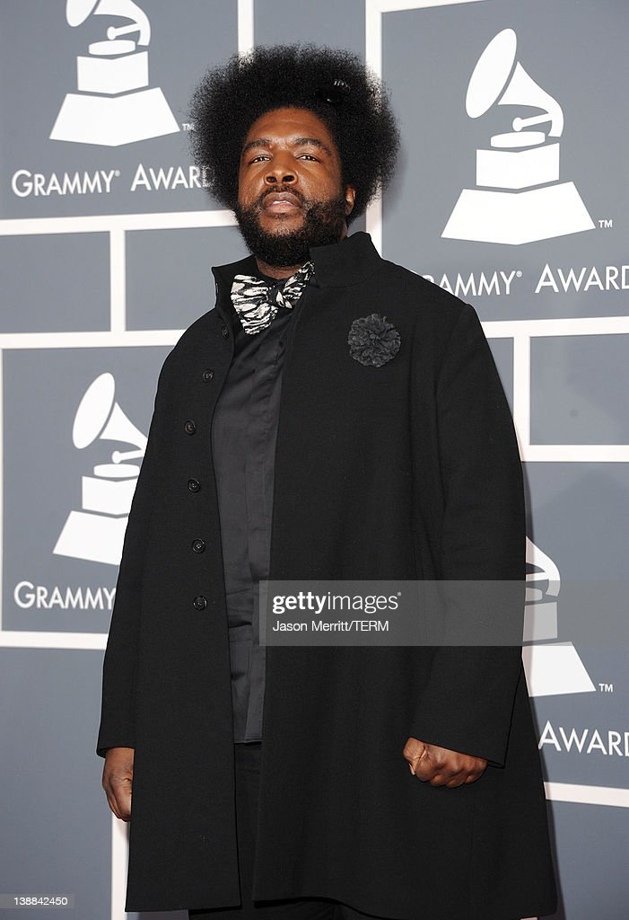 Ahmir '?uestlove' Thompson arrives at the 54th Annual GRAMMY Awards held at Staples Center on February 12, 2012 in Los Angeles, California.