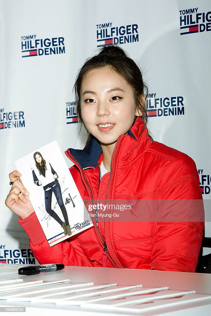 Ahn So-Hee of South Korean girl group Wonder Girls attends an autograph session for 'Tommy Hilfiger' Denim at Hyundai Department Store on November 9, 2012 in Seoul, South Korea.