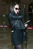 Ahn SoHee of South Korean girl group Wonder Girls is seen on departure at Gimpo International Airport on May 3 2013 in Seoul South Korea