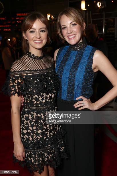 Ahna O'Reilly and Jen Zaborowski attend the premiere of Momentum Pictures' 'In Dubious Battle' at ArcLight Hollywood on February 15 2017 in Hollywood...