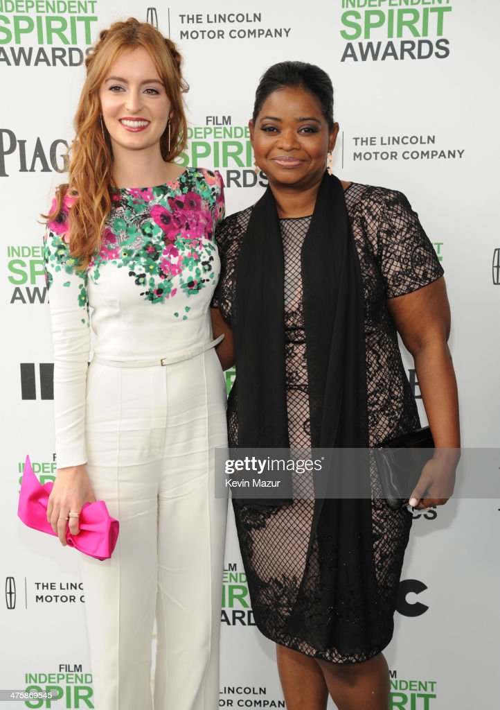 Ahna O'Reilly and Octavia Spencer attend the 2014 Film Independent Spirit Awards at Santa Monica Beach on March 1, 2014 in Santa Monica, California.