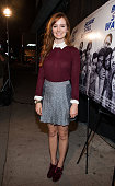 Ahna O'Reilly arrives at the Premiere Of Tribeca Film's 'Beside Still Waters' at Laemmle's Music Hall Theatre on November 16 2014 in Beverly Hills...