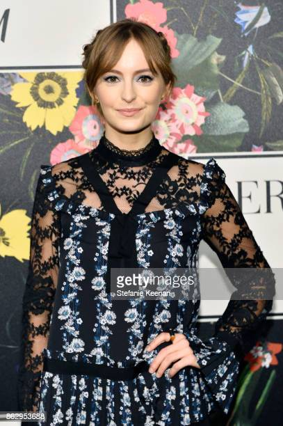 Ahna O'Reilly at HM x ERDEM Runway Show Party at The Ebell Club of Los Angeles on October 18 2017 in Los Angeles California
