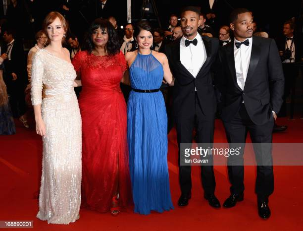Ahna O'Reilly Octavia Spencer Melonie Diaz Michael B Jordan and Ryan Coogler attend the 'Fruitvale Station' Premiere during the 66th Annual Cannes...