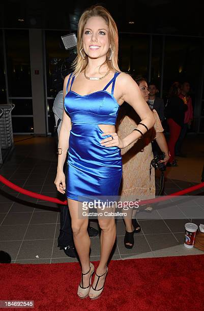 Ahrid Hannaley arrives for the premiere of 'The Snitch Cartel' at Regal South Beach on October 14 2013 in Miami Florida