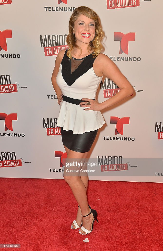 Ahrid Hannaley attends Telemundos 'Marido en Alquiler' Presentation on July 10, 2013 in Miami, Florida.