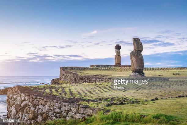 Ahu Ko Te Riku Easter Island Tahai Hanga Roa Rapa Nui