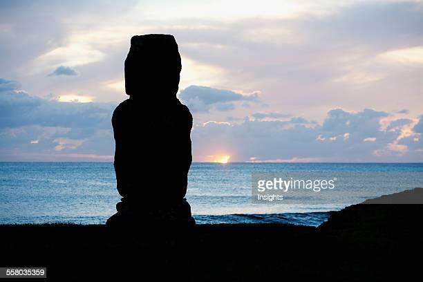 Ahu Tahai At Dusk Rapa Nui Chile