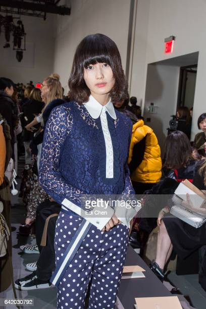 Ai Hashimoto attends the Michael Kors Collection Fall 2017 runway show at Spring Studios during New York Fashion Week on February 15 2017 in New York...