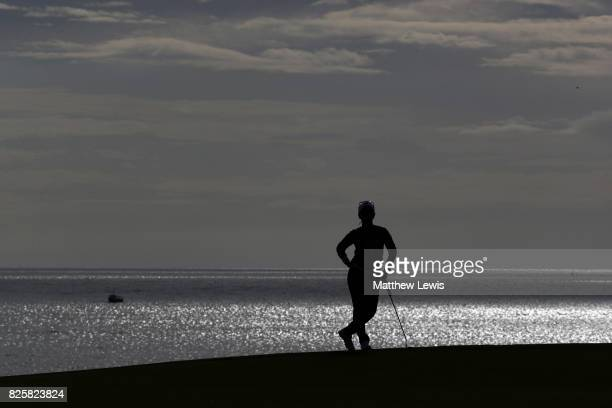 Ai Miyazato of Japan waits on the 3rd green during the first round of the Ricoh Women's British Open at Kingsbarns Golf Links on August 3 2017 in...