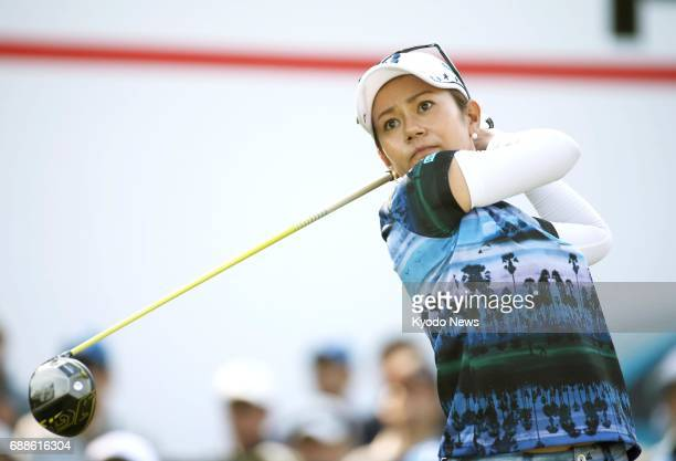 Ai Miyazato tees off at the Chukyo TV Bridgestone Ladies Open in Toyota Japan in this file photo taken in May 2017 Her management said on May 26 that...