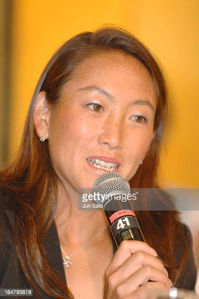 Ai Sugiyama during the press conference of Toray Pan Pacific Open Tennis Tournament 2006