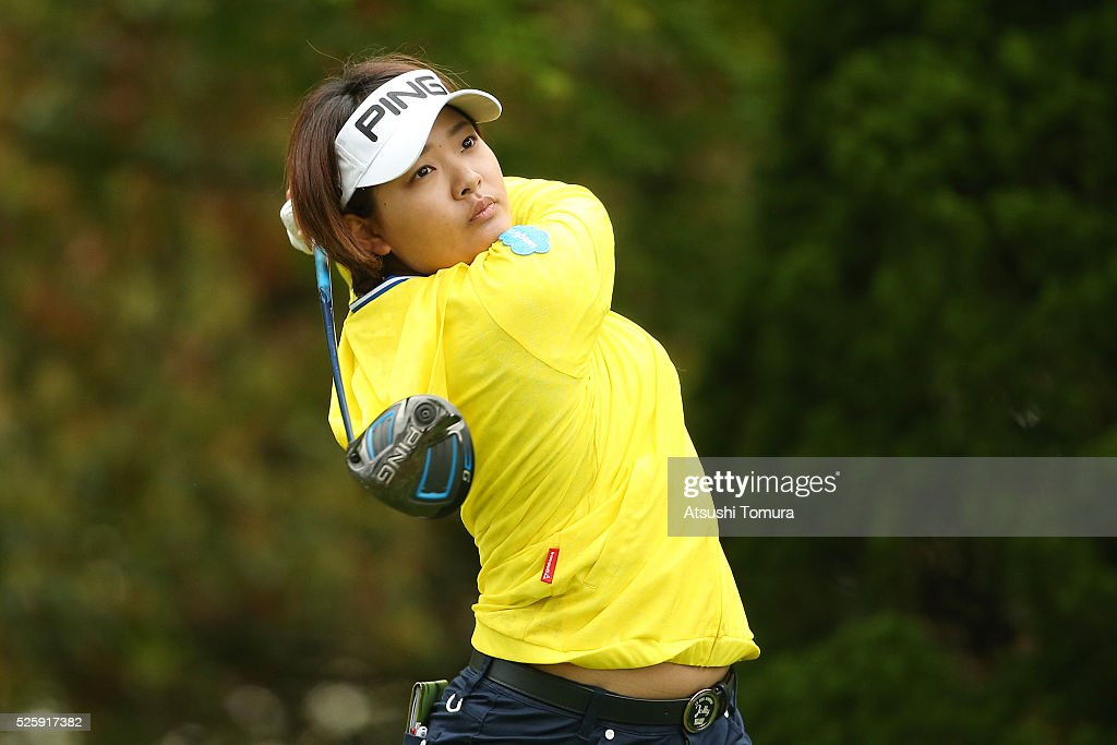 <a gi-track='captionPersonalityLinkClicked' href=/galleries/search?phrase=Ai+Suzuki+-+Golf&family=editorial&specificpeople=13711094 ng-click='$event.stopPropagation()'>Ai Suzuki</a> of Japan hits her tee shot on the 2nd hole during the first round of the CyberAgent Ladies Golf Tournament at the Grand Fields Country Club on April 29, 2016 in Mishima, Japan.