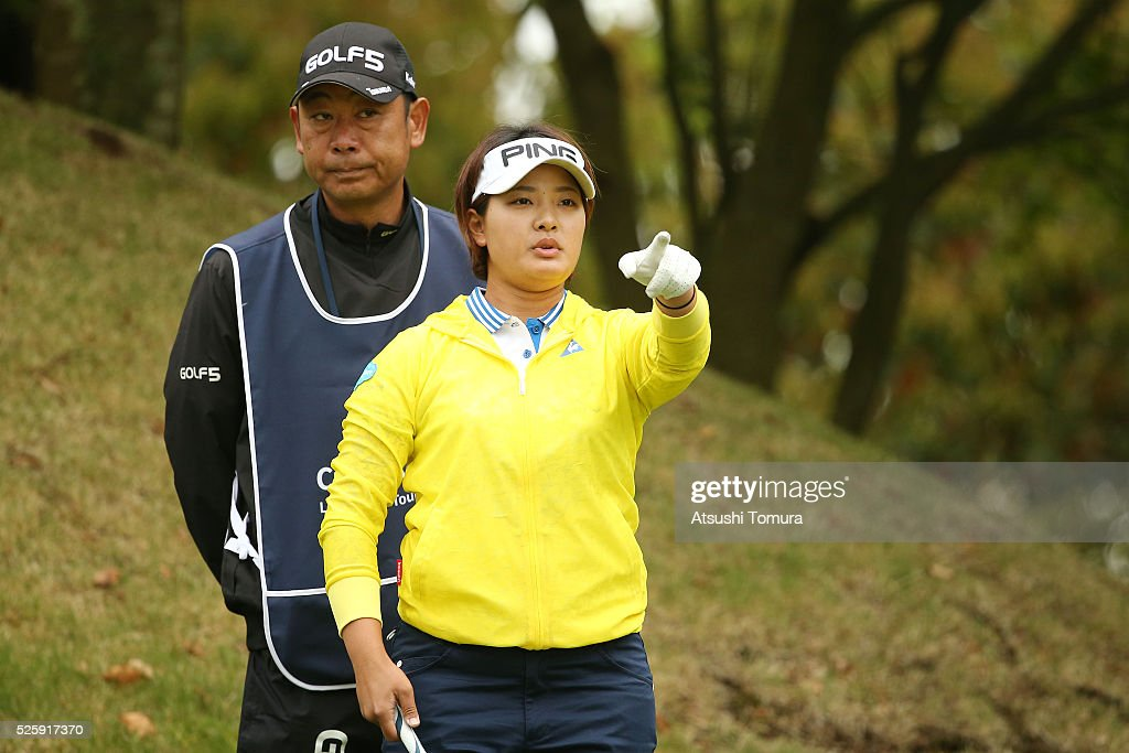 <a gi-track='captionPersonalityLinkClicked' href=/galleries/search?phrase=Ai+Suzuki+-+Golf&family=editorial&specificpeople=13711094 ng-click='$event.stopPropagation()'>Ai Suzuki</a> of Japan lines up her tee shot on the 2nd hole during the first round of the CyberAgent Ladies Golf Tournament at the Grand Fields Country Club on April 29, 2016 in Mishima, Japan.