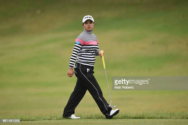 Ai Suzuki of Japan looks on during the final round of the Fujitsu Ladies 2017 at the Tokyu Seven Hundred Club on October 15 2017 in Chiba Japan