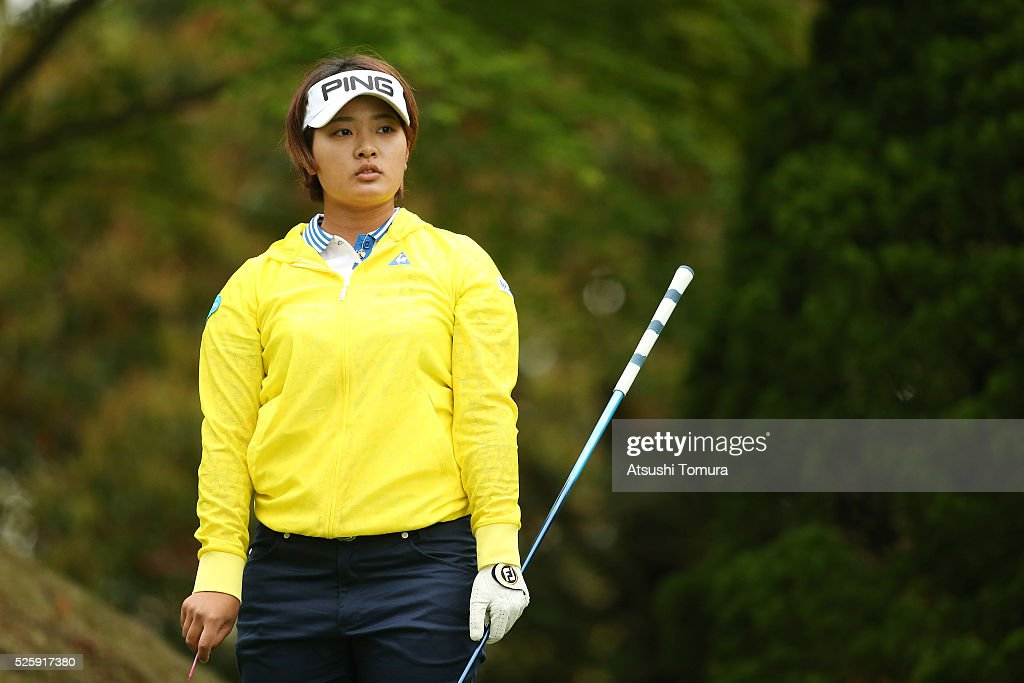 <a gi-track='captionPersonalityLinkClicked' href=/galleries/search?phrase=Ai+Suzuki+-+Golf&family=editorial&specificpeople=13711094 ng-click='$event.stopPropagation()'>Ai Suzuki</a> of Japan looks on during the first round of the CyberAgent Ladies Golf Tournament at the Grand Fields Country Club on April 29, 2016 in Mishima, Japan.