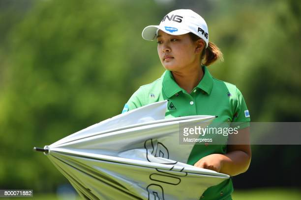 Ai Suzuki of Japan looks on during the second round of the Earth Mondamin Cup at the Camellia Hills Country Club on June 23 2017 in Sodegaura Japan