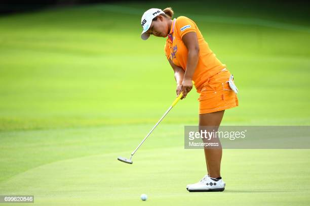 Ai Suzuki of Japan putts during the first round of the Earth Mondamin Cup at the Camellia Hills Country Club on June 22 2017 in Sodegaura Japan