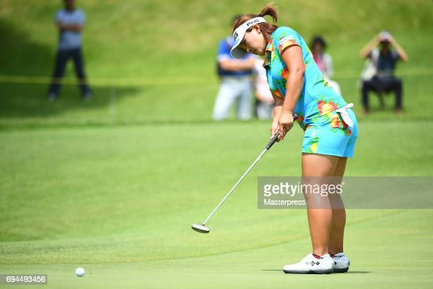 Ai Suzuki of Japan putts during the third round of the Suntory Ladies Open at the Rokko Kokusai Golf Club on June 10 2017 in Kobe Japan