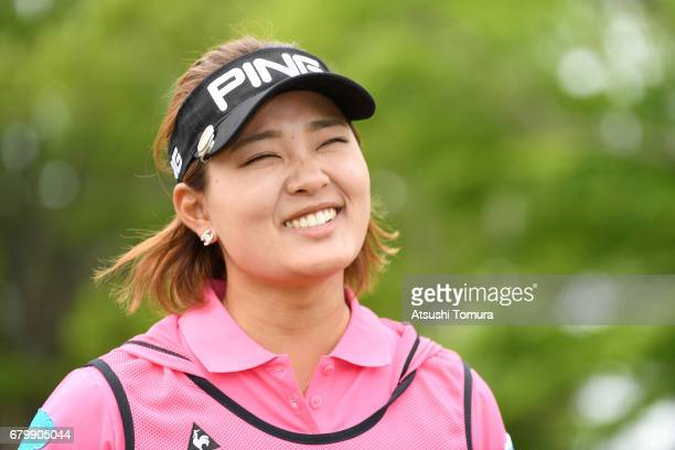 Ai Suzuki of Japan smiles during the final round of the World Ladies Championship Salonpas Cup at the Ibaraki Golf Club on May 7 2017 in Tsukubamirai...