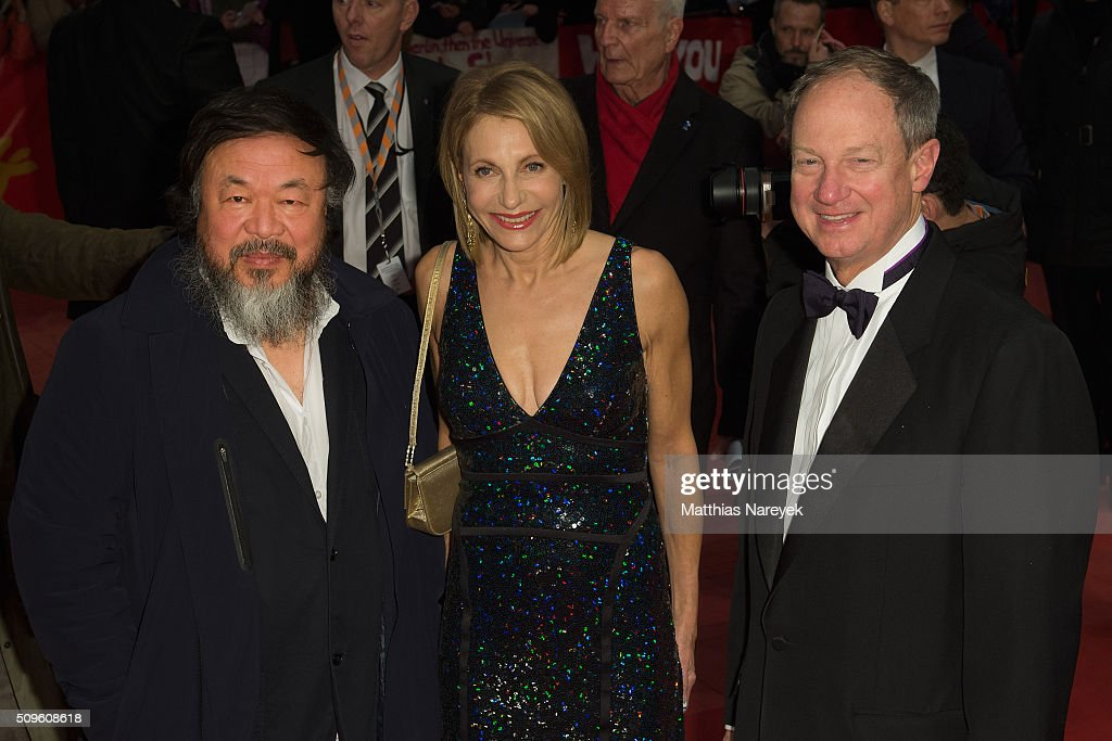 Ai Wei Wei, US ambassador in Germany, John B. Emerson and his wife Kimberley attend the 'Hail, Caesar!' premiere during the 66th Berlinale International Film Festival Berlin at Berlinale Palace on February 11, 2016 in Berlin, Germany.