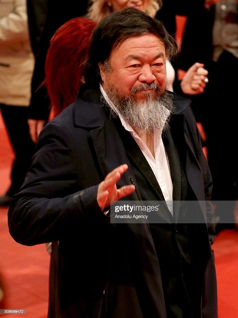 Ai Weiwei attends the 'Hail, Caesar!' premiere during the 66th Berlinale International Film Festival Berlin at Berlinale Palace in Berlin, Germany on February 11, 2016.