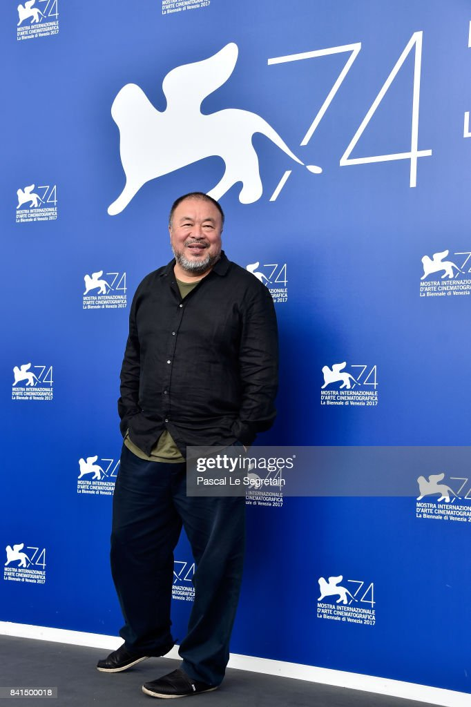 Ai Weiwei attends the 'Human Flow' photocall during the 74th Venice Film Festival on September 1, 2017 in Venice, Italy.