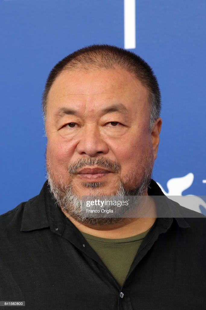 Ai Weiwei attends the 'Human Flow' photocall during the 74th Venice Film Festival at Sala Casino on September 1, 2017 in Venice, Italy.
