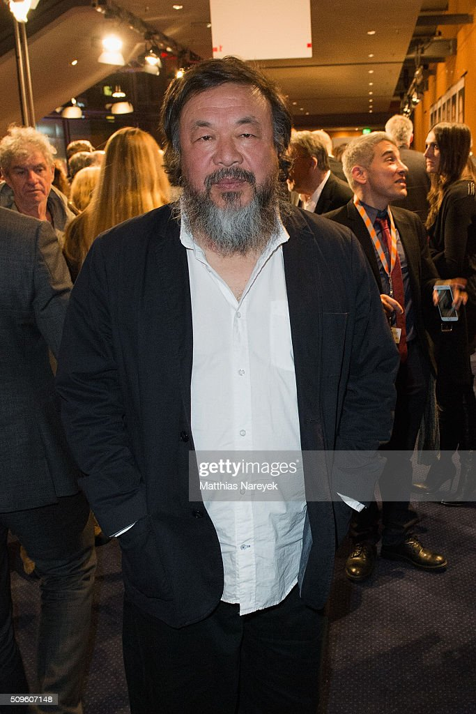 <a gi-track='captionPersonalityLinkClicked' href=/galleries/search?phrase=Ai+Weiwei&family=editorial&specificpeople=4331218 ng-click='$event.stopPropagation()'>Ai Weiwei</a> attends the opening party of the 66th Berlinale International Film Festival Berlin at Berlinale Palace on February 11, 2016 in Berlin, Germany.