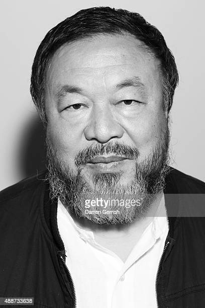 Image was converted to black and white Ai Weiwei attends the opening reception to celebrate the Exhibition of Ai Weiwei at Royal Academy of Arts on...
