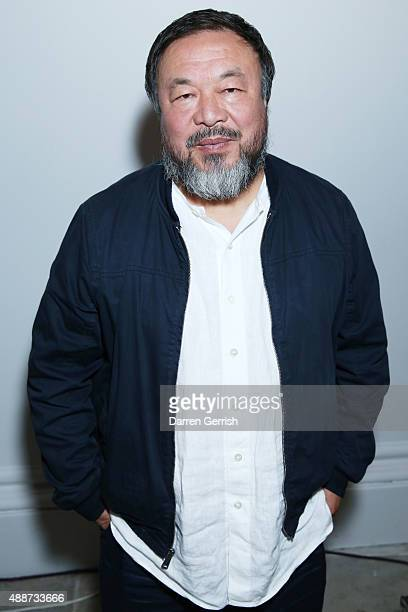 Ai Weiwei attends the opening reception to celebrate the Exhibition of Ai Weiwei at Royal Academy of Arts on September 15 2015 in London England