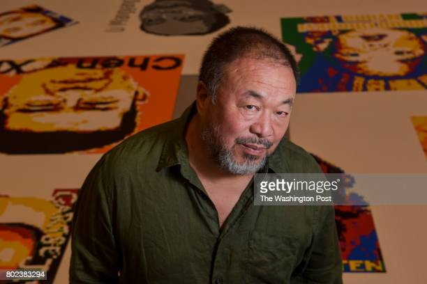 Ai Weiwei internationally known artist and activist is at the Hirshhorn Museum for his new exhibit Ai Weiwei Trace at Hirshhorn on Monday June 26...