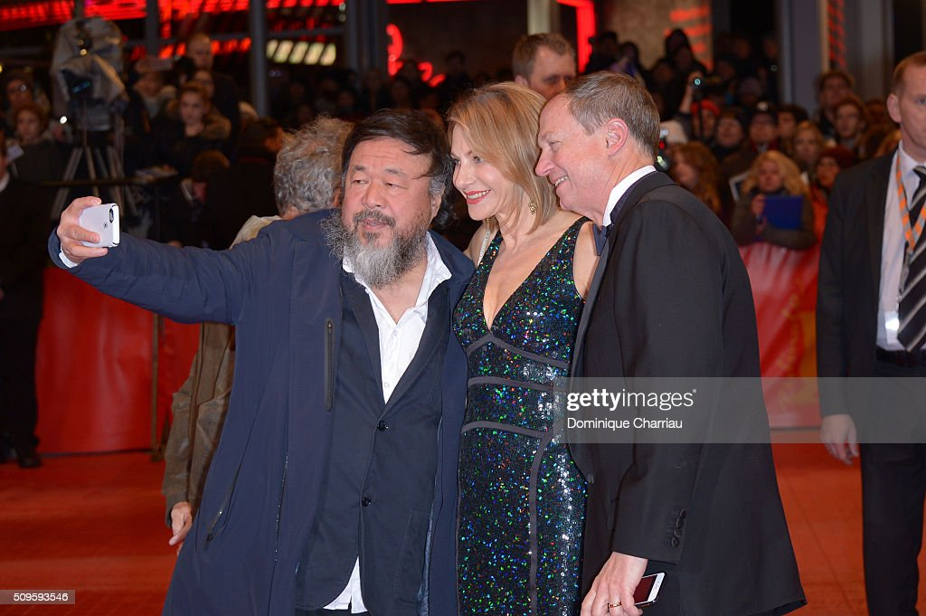 <a gi-track='captionPersonalityLinkClicked' href=/galleries/search?phrase=Ai+Weiwei&family=editorial&specificpeople=4331218 ng-click='$event.stopPropagation()'>Ai Weiwei</a>, Kimberly Marteau Emerson and US Ambassador to Germany John B. Emerson attend the 'Hail, Caesar!' premiere during the 66th Berlinale International Film Festival Berlin at Berlinale Palace on February 11, 2016 in Berlin, Germany.