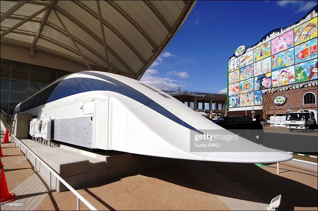 Aichi World Expo 2005 Under Construction In Aichi Japan On March 01 2005 A maglev train at the Aichi Expo site in Nagakute The 28meterlong 30ton...