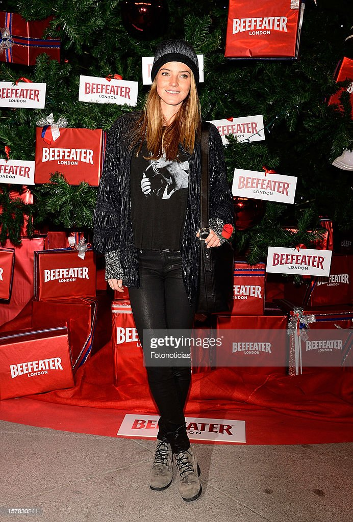 Aida Artiles attends the inauguration of Beefeater London Market at the Palacio de Cibeles on December 6, 2012 in Madrid, Spain.