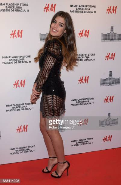 Aida Domenech poses during a photocall for the new HM flagship store opening on February 1 2017 in Barcelona Spain