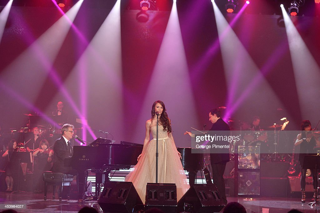 Aida Garifullina performs at the David Foster Foundation Benefit Concert at Allstream Centre on December 5, 2013 in Toronto, Canada.