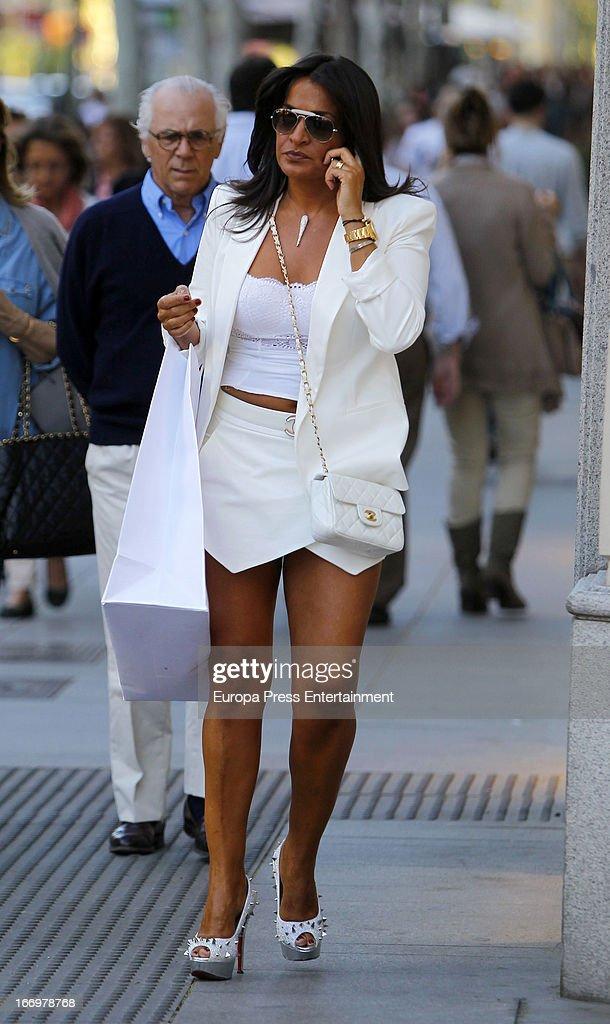 Aida Nizar is seen on April 18, 2013 in Madrid, Spain.