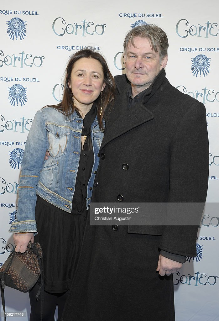 Aida Sikira and Max Herbrechter attend Corteo Cirque De Soleil' Premiere on January 9, 2013 in Hamburg, Germany.
