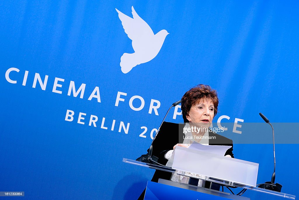 Aida Takla-O'Reilly during the Cinema For Peace Gala Ceremony at the 63rd Berlinale International Film Festival at the Waldorf Astoria Hotel on February 9, 2013 in Berlin, Germany.