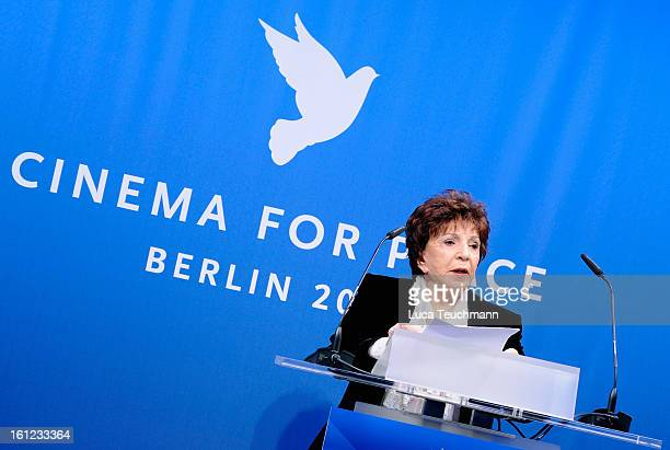 Aida TaklaO'Reilly during the Cinema For Peace Gala Ceremony at the 63rd Berlinale International Film Festival at the Waldorf Astoria Hotel on...