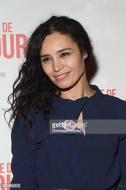 Aida Touhiri attends 'L'Histoire de L'Amour' Paris Premiere at Gaumont Capucines on November 7 2016 in Paris France
