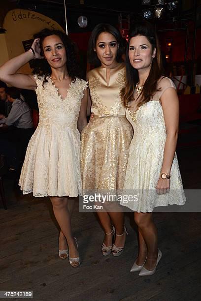 Aida Touihiri Josephine Jobert and Flavie Pean attend the Christophe Guillarme show as part of the Paris Fashion Week Womenswear Fall/Winter 20142015...