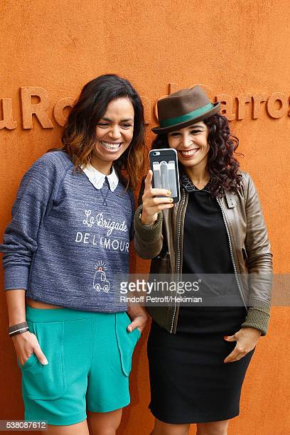Aida Touihri and Laurence Roustandjee attend the French Tennis Open Day Fourteen at Roland Garros on June 4 2016 in Paris France